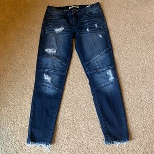 Denim - Distressed Moto Jeans